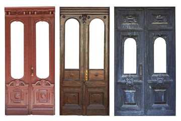 Set of aged doors