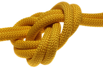apocryphal knot on double yellow rope
