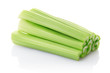 Celery sticks isolated on white, clipping path included
