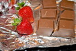 Fresh Strawberries With Cocolate