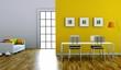Wohndesign - gelbes Esszimmer