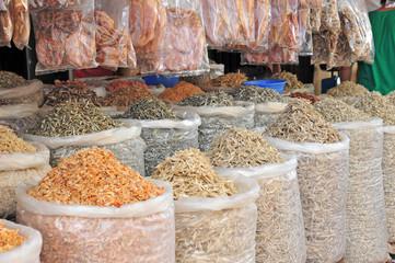 Sacks Of Dried Seafood For Sale