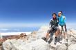 People on mountain top hiking