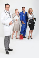 Doctor, mechanic, hairdresser and secretary.