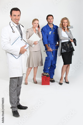 Doctor, mechanic, hairdresser and secretary.