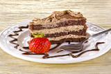 Tiramisu cakewith strawberry