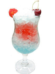 alcoholic liqueur cocktail with cherry