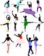 Ballet dancer in action. Vector illustration