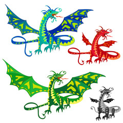 dragon with wings