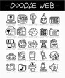 cartoon web doodle icon set