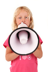 Kind mit Megafon