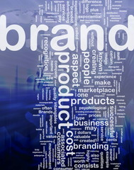 Brand marketing background concept