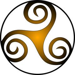 Keltische Triskele - Spirale - Triskel