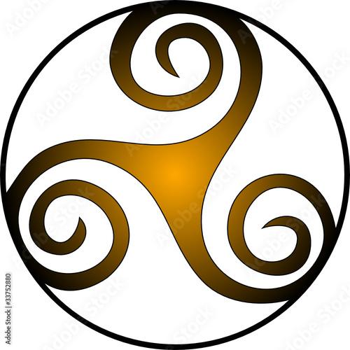 Foto Keltische Triskele Spirale Triskel Copyright Gabriella88