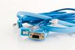 various blue pc cables