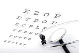 Eye Chart and stethoscope
