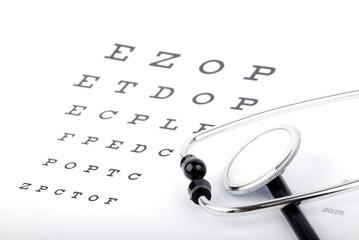 Eye Chart and stethoscope