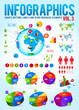 Colorful infographic vector collection with charts