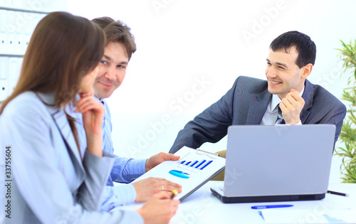 Group of business people in a meeting at office -
