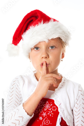 miss santa says be quiet