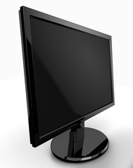 Blank LED monitor perspective view