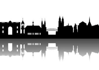 Magdeburg Sachsen-Anhalt abstrakt