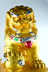 Dragon gold sculpture felicitous of china