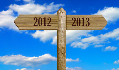 Wooden Signpost - 2012 to 2013