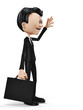 businessman greeting side view