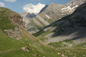 alpine valley in Parc National des Pyrenees