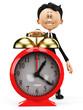 businessman cartoon wake up