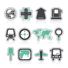 contour gps map icons