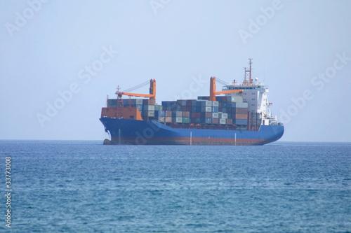 Tanker in Mediterranean sea near Cyprus