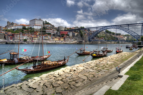 Boats Along the River Douro, Porto, Portugal