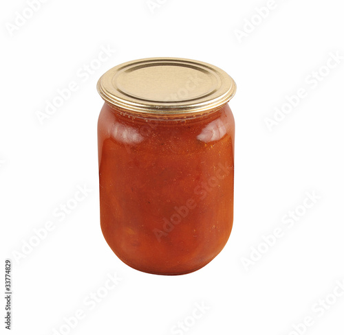 apricot home made jam in jar