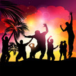 People Dancing-Beach Party