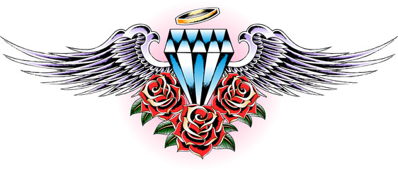 glory diamond tattoo flash