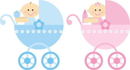 prams with babies