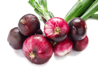 red onion isolated over white