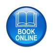Boton brillante simbolo y texto BOOK ONLINE