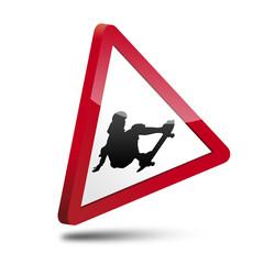 Señal 3D peligro skater