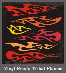 Vinyl Ready Tribal Flames
