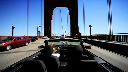 Driving a Luxury Car on Golden Gate Bridge