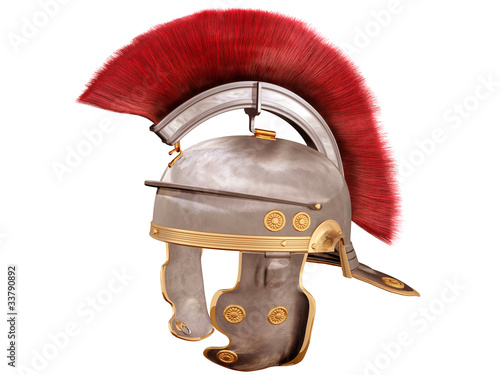 Isolated Roman Helmet