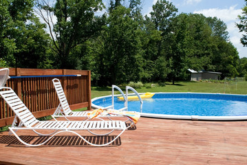 Country Pool and Deck