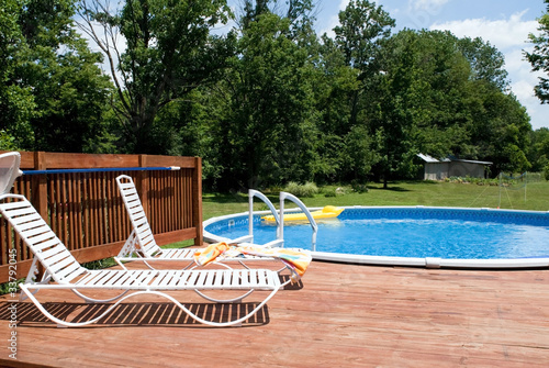 Country Pool and Deck - 33792045