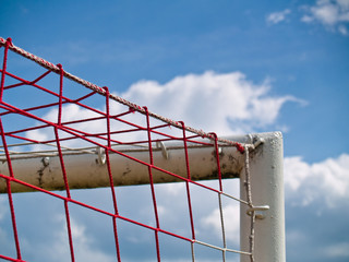 Corner of the soccer goal