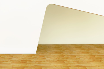 Rendering of an empty room