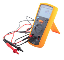Insulation tester isolated white background