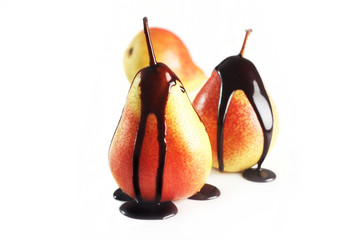 Chocolate-Coated Pears